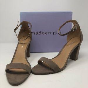 Madden Girl Women's Beella Dress Sandal-Dk Taupe